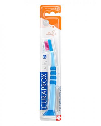 Baby Zahnbürste, blau-pink